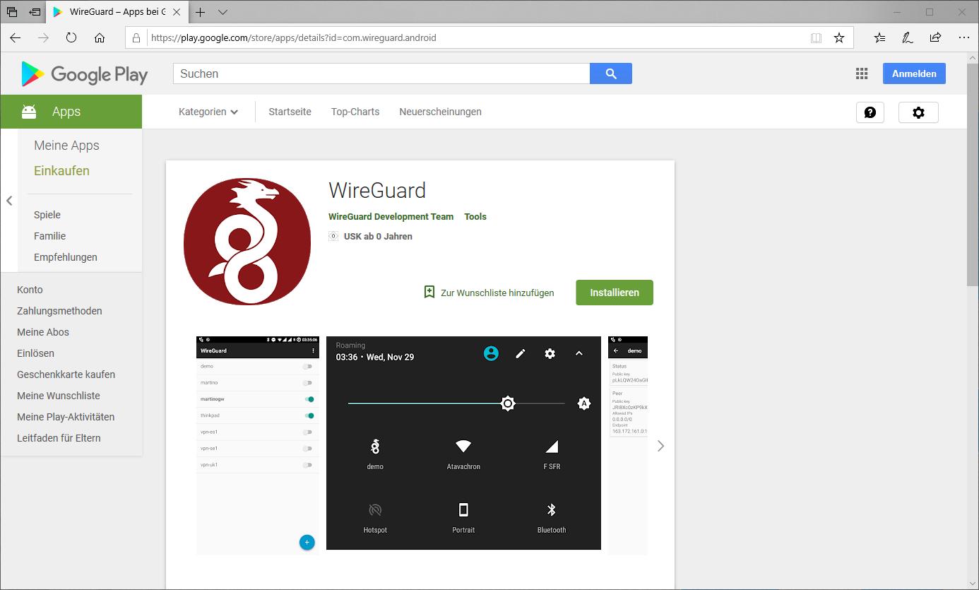 Raspberry Pi mit WireGuard als VPN Server – bachmann-lan de